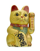 Lucky cat maneki neko — Stock Photo