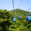 Cable car highly in mountains. Dalian — Stock Photo