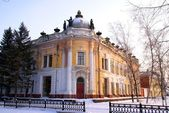 Old building of a museum. Russia. Siberia — Stock Photo