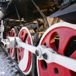 Steam locomotive. Russia. Winter. — Stock Photo