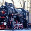 Steam locomotive. Russia — Stock Photo