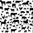 Farm animals - Imagens vectoriais em stock