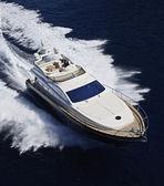 Italie, sicile, île panaresa, yacht de luxe, vue aérienne — Photo
