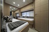 Italia, yate de lujo, habitación de huéspedes — Foto de Stock