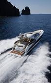 ITALY, Panarea Island, aerial view of luxury yacht — Stock Photo