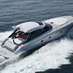 Italy, Naples, Aqua 54' luxury yacht, aerial view — Stock Photo #3993533