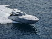 Italy, Naples, Aqua 54' luxury yacht, aerial view — Stock Photo