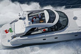 Italy, Naples, Aqua 54' luxury yacht, aerial view — Stok fotoğraf