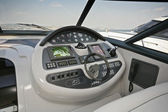 Italy, Naples, Aqua 54' luxury yacht, driving consolle — Stock Photo