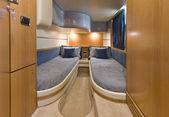 Italy, Naples, Aqua 54' luxury yacht, guests bedroom — Foto Stock