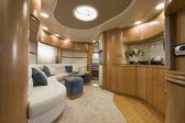 Italy, Naples, Aqua 54' luxury yacht, dinette — Stock Photo