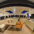 France, Cannes, luxury yacht, dinette - Stock Photo