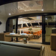 France, Cannes, luxury yacht Continental 80, dinette — Stock Photo