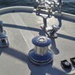 France, Cannes, Continental 80 luxury yacht, winch — Stock Photo