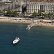 France, Cannes, aerial view of the city and the coastline — Stock Photo #4014015