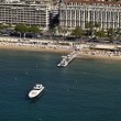 France, Cannes, aerial view of the city and the coastline — Stock Photo