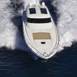 France, Cannes, luxury yacht Continental 80', aerial view — Stock Photo
