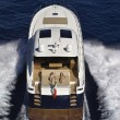 Stock Photo: France, Cannes, luxury yacht Continental 80', aerial view