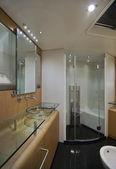 France, Cannes, luxury yacht Continental 80, bathroom — Stock Photo