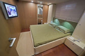 France, Cannes, luxury yacht, master bedroom — Stock Photo