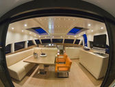 France, Cannes, luxury yacht, dinette — Stock Photo