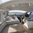 France, Corsica, luxury yacht, Azimut Atlantis 50, dinette — Stock Photo #4091807