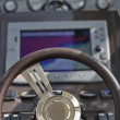 Italy, luxury yacht, Azimut Atlantis 50 in marina, driving consolle — Foto Stock #4091871