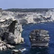 France, Corsica, Bonifacio, view of Bonifacio rocky coast — Stock Photo