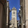 ������, ������: France Corsica Bonifacio buildings and the cathedral bell tower