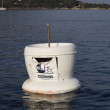 France, Corsica, Girolata Marine National Park, sea garbage container — Stock Photo