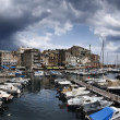France, Corsica, Bastia, panoramic view of the port and the town — Stock Photo #4094303
