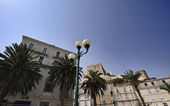 France, Corsica, Bonifacio, buildings in the old part of the town — Stock Photo