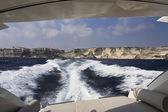 法国科西嘉,博尼法西奥海岸线岩石,tirrenian 海 — 图库照片