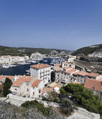 France, Corsica, Bonifacio, view of the town and the port — Stock Photo