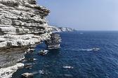 Francia, corsica, bonifacio, mostra di costa rocciosa di bonifacio — Foto Stock