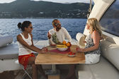 Italy, Liguria, Tirrenian coastline, on a luxury yacht — Stock Photo