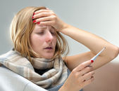 Young ill woman — Stock Photo