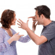 Angry couple yelling at each other — Stock Photo