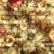 Christmas brick background — Stock Photo