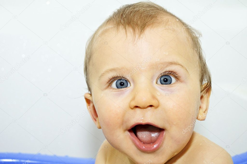 Happy baby face — Stock Photo © alexmisu #4616749