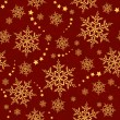 Seamless snowflakes and stars, winter pattern — Stock Vector