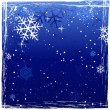 Stock Vector: Blue grunge winter background