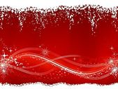 Abstract red white Christmas, winter background — Stock Vector