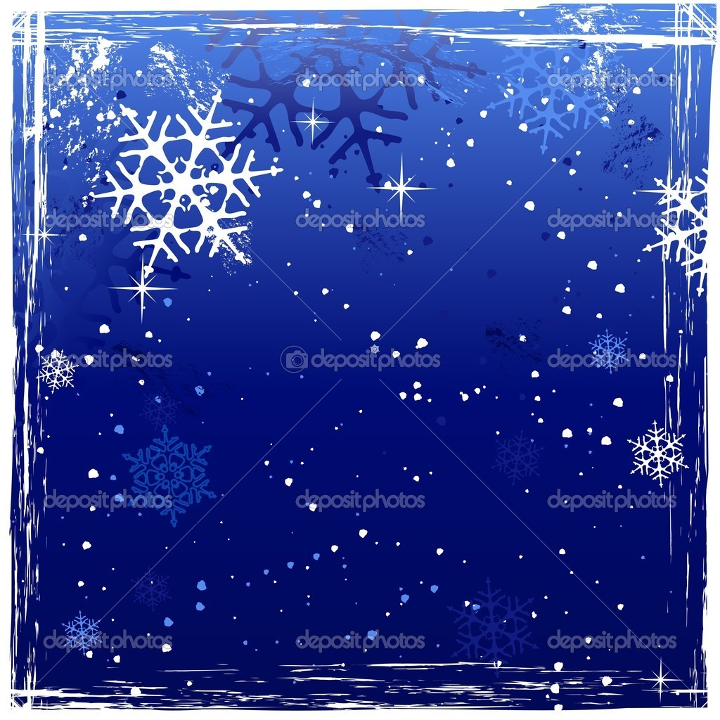 Winter background with snowflakes and grunge elements in cold white and blues. Space for your message. — Stock Vector #4077514