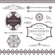 Various borders, dividers, swirly design elements — Vetorial Stock #4948629