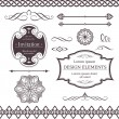 Various borders, dividers, swirly design elements — стоковый вектор #4948629