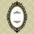 Stock Vector: Decorative oval vintage frame