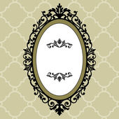 Decorative oval vintage frame — Stock Vector