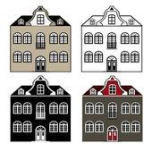 Antigua casa — Vector de stock