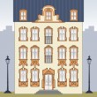 Romantic old house - Stock Vector